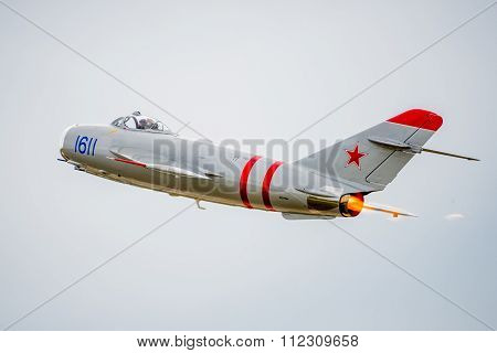 Mig-17 Jet Flying Away