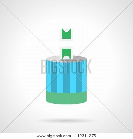 Charitable contribution flat color vector icon
