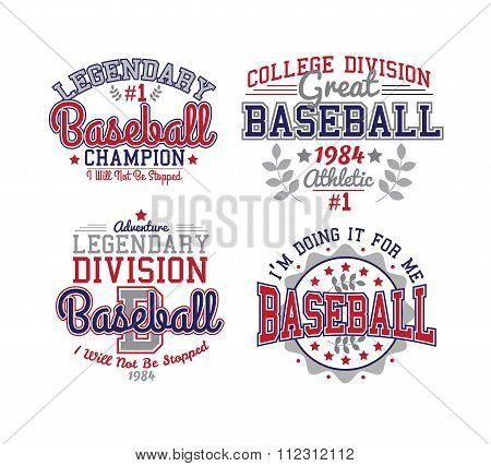 Baseball Varsity Set