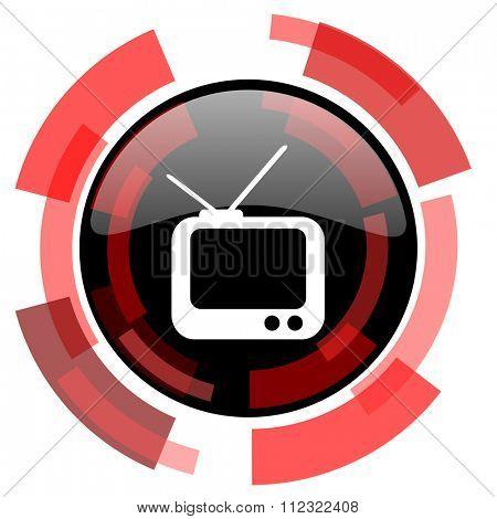 tv red modern web icon