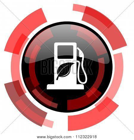 biofuel red modern web icon
