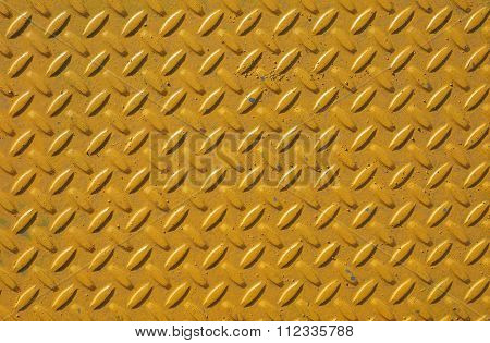 Yellow Steel Diamond Plate Background