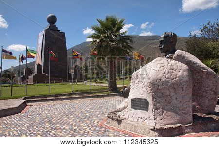 Quito, Ecuador - November 26, 2015:  Monument Mitad Del Mundo On