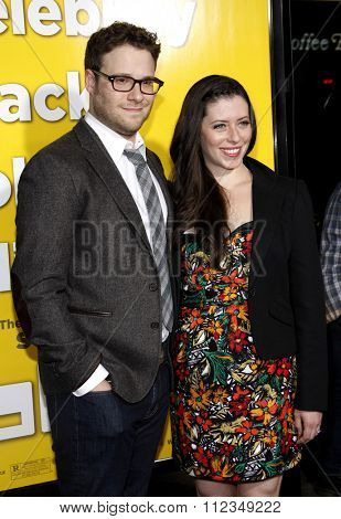Seth Rogan and Lauren Miller at the Los Angeles Premiere of