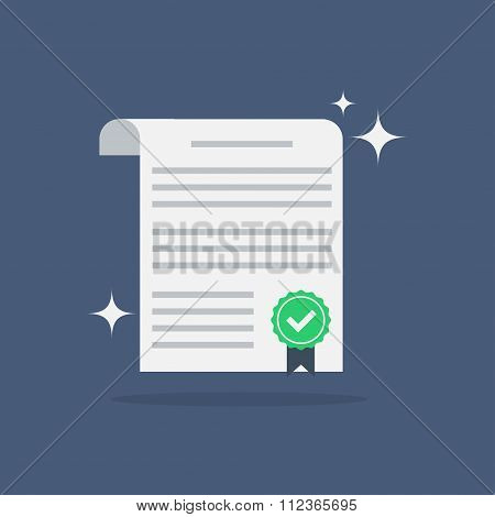 Contract vector flat icon