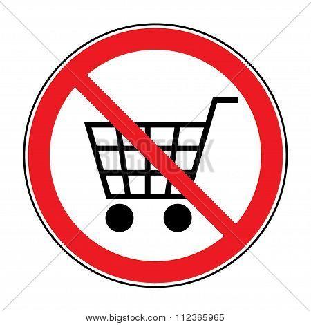 No Cart Sign