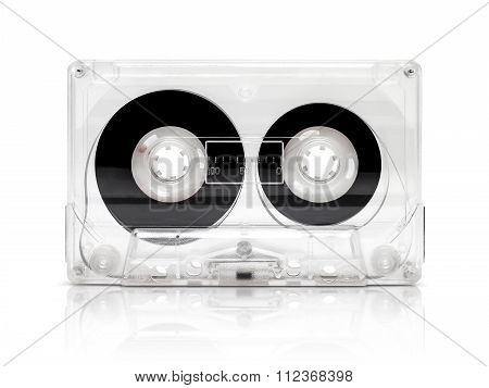 vintage cassette tape isolated on white background with clipping path