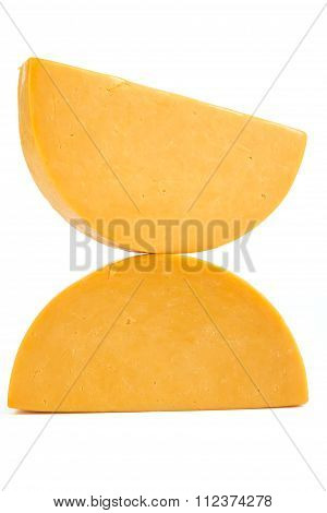 Two Half Wheels Of Colby Cheese