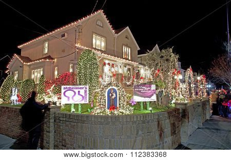 Christmas House In Brooklyn New York
