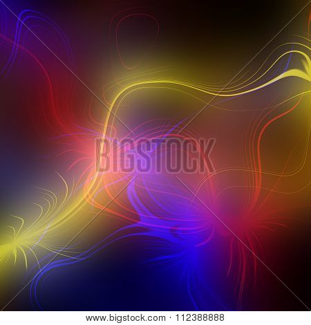 Abstract plasma discharge as a background. Psychedelic color image