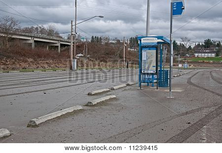 Stanwood, Wa - December 14 - After Flooding Bus Stop