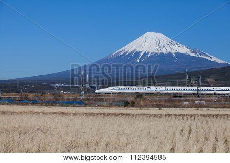 Mount fuji and Shinkansen