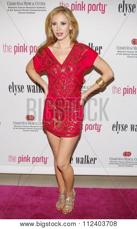 Ashley Jones at the 5th Annual Pink Party held at the La Cachette Bistro in Santa Monica, California, United States on September 12, 2009.