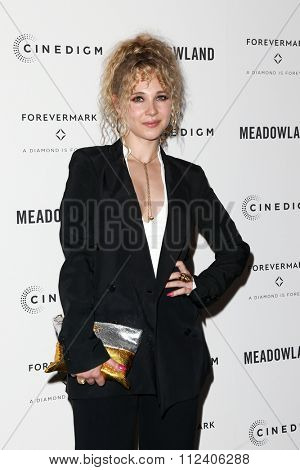 NEW YORK-OCT 11: Actress Juno Temple attends the premiere of 'Meadowland' at Sunshine Landmark on October 11, 2015 in New York City.