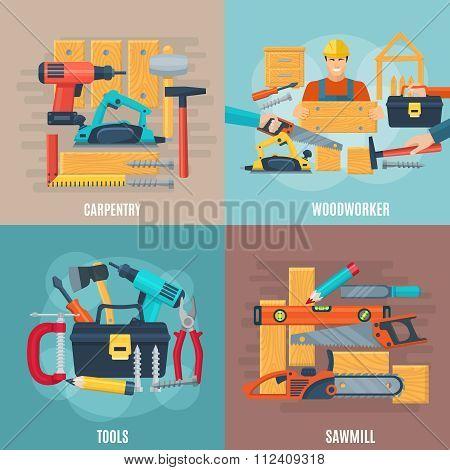 Carpentry Design Concept Set