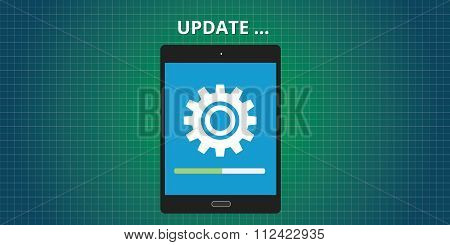 update updating software app tablet