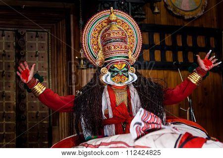 Kathakali dancer