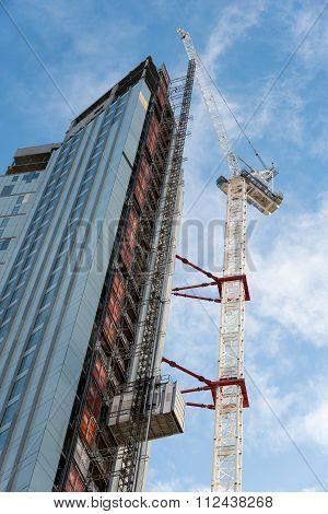 Construction Of A Modern Skyscraper Building