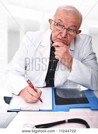 Caucasian Senior Doctor
