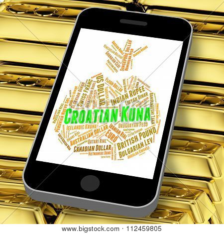 Croatian Kuna Indicating Currency Exchange And Coinage poster