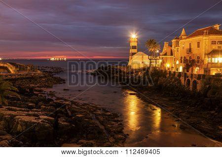 Santa Marta Lighthouse In Cascais