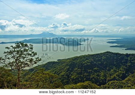 Taal Volcano the smallest volcano in the world poster