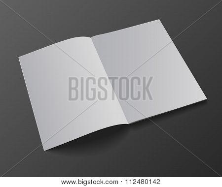 Blank magazine mockup template. Opened magazine. Realistic vector EPS10 illustration. poster