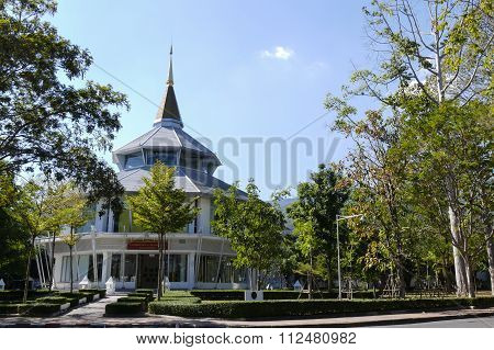 The Building For Glorifying The King In Chiang Mai University