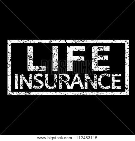 an images of illustration vector Life Insurance Word