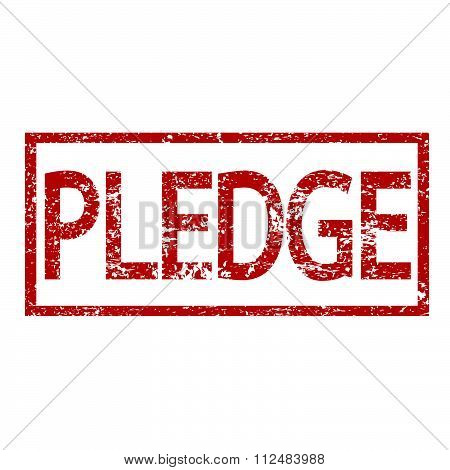 an images of illustration Stamp PLEDGE word