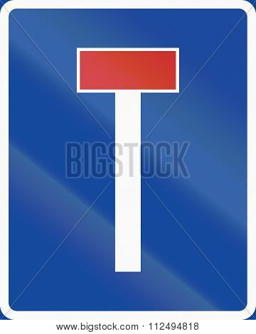 Road Sign Used In Sweden - No Through Road