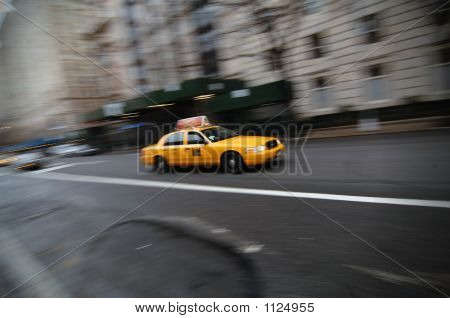 Taxi In Front Front Of The Met
