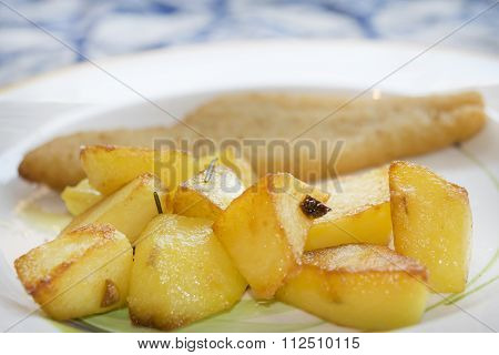 Baked Potatoes With Schnitzel