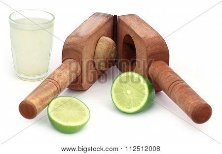 Lemon Juice With Fruit Juicer