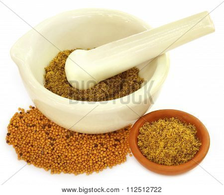 Mustard With Mortar And Pastle