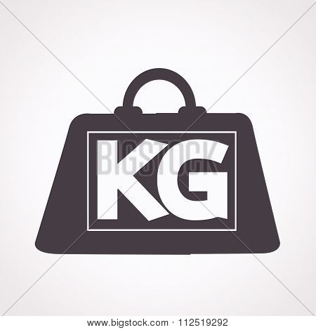 an images of illustration weight kilogram icon