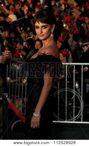 DISNEYLAND, CALIFORNIA - May 7, 2011. Penelope Cruz at the World premiere of