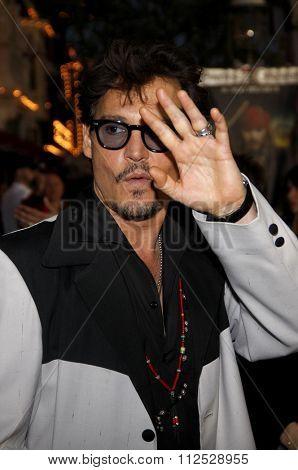 DISNEYLAND, CALIFORNIA - May 7, 2011. Johnny Depp at the World premiere of