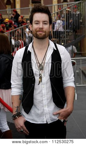 DISNEYLAND, CALIFORNIA - May 7, 2011. David Cook at the World premiere of
