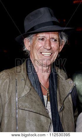 DISNEYLAND, CALIFORNIA - May 7, 2011. Keith Richards at the World premiere of
