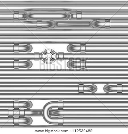 Steel Pipes Construction, Seamless Background