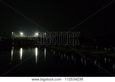 Melbourne Cricket Ground by night