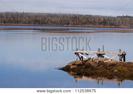 wind turbine by the lake,Nova Scotia