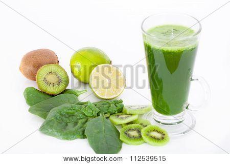 Vitamin bomb, healthy green smootie