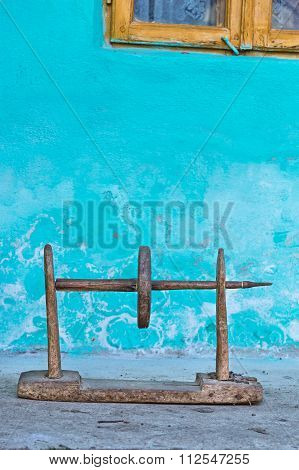 Old wooden rural object