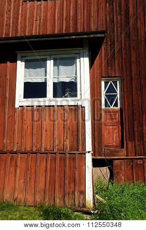 Red Wooden Finnish House