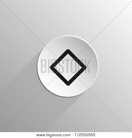 magic, black icon rune Inguz on a light background with long shadow poster