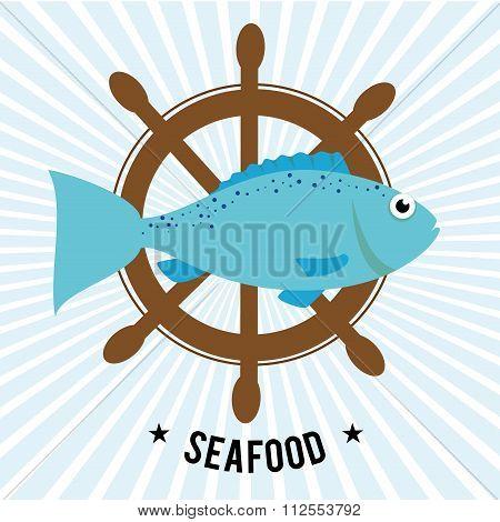 Sea food gastronomy graphic design, vector illustration eps10 poster