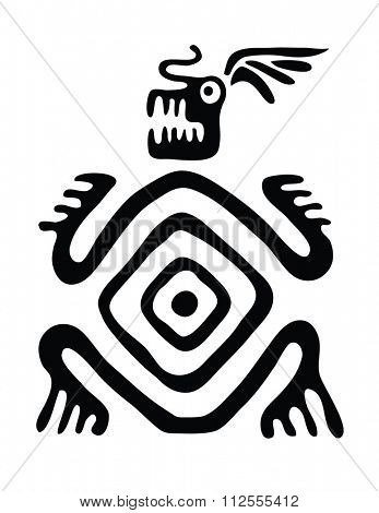 black monster in native style, illustration