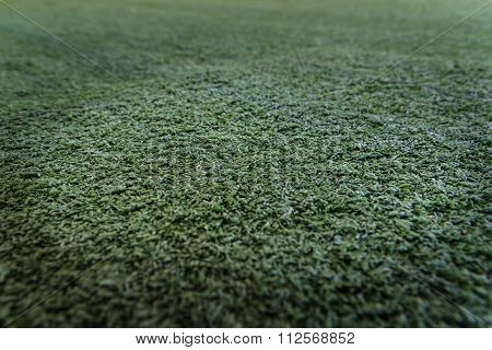 Closeup Of The Green Artificial Grass Texture